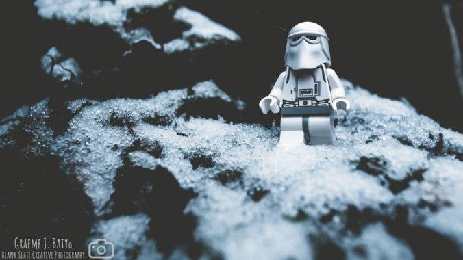 Star Wars Lego art - hoth - snow trooper