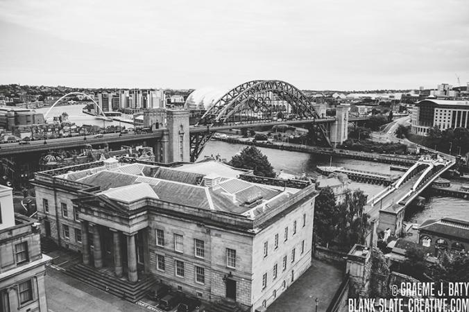 Newcastle upon Tyne black and white