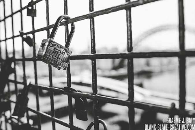 Newcastle black and white high level locks