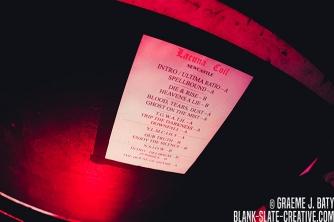 Lacuna Coil - November 2016 - Newcastle Riverside setlist photo