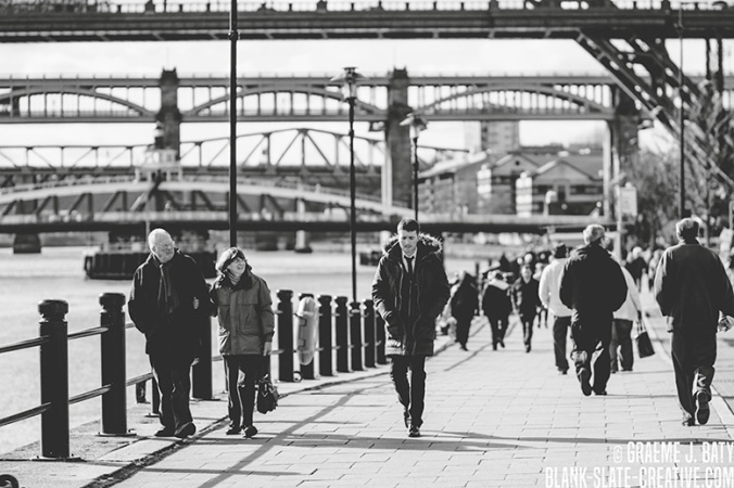 Newcastle black and white street photography